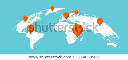 Wereldbol aarde continenten vector logistiek wereldwijd Stockfoto © robuart