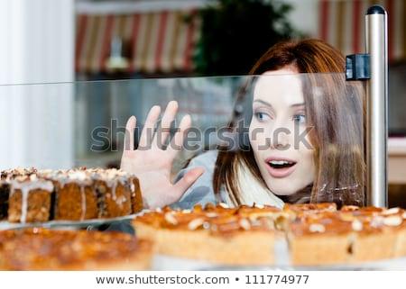 かなり 若い女性 ベーカリー 小さな 笑顔の女性 ストックフォト © boggy