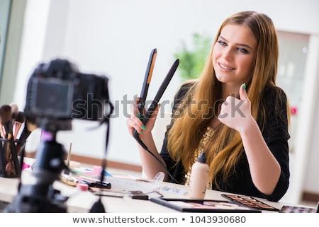 Szépség blogger videó blog internet modell Stock fotó © Elnur