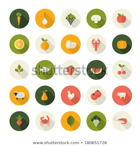 Cibo sano vegetali zucca vettore segno icona Foto d'archivio © pikepicture