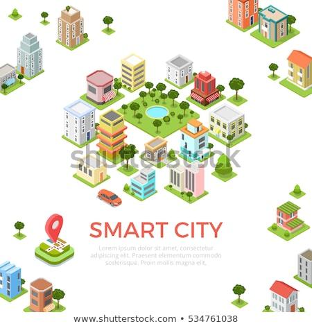 Izometryczny Pokaż miasta GPS stylu wektora Zdjęcia stock © artisticco
