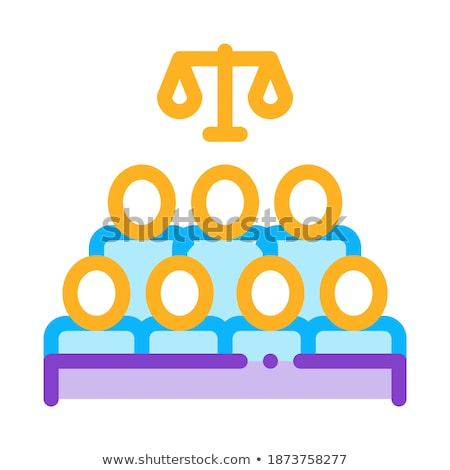 Court Sitting Law And Judgement Icon Vector Illustration Stock photo © pikepicture