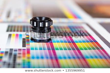 Color gestión lupa Foto stock © posterize