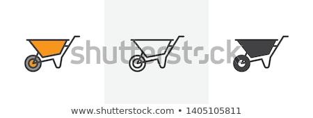 Wheelbarrow. Filled color icon. Gardening vector illustration Stock photo © Imaagio