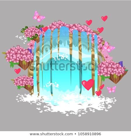 装飾 フォーム ファンタジー 滝 要素 花 ストックフォト © Lady-Luck