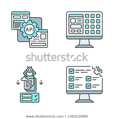 процесс автоматизация вектора технологий Сток-фото © pikepicture
