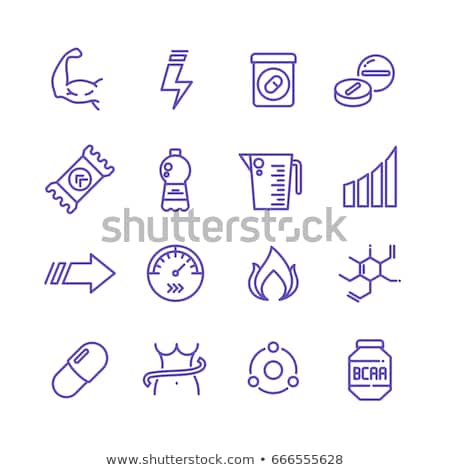 bottle of fats icon vector outline illustration Stock photo © pikepicture