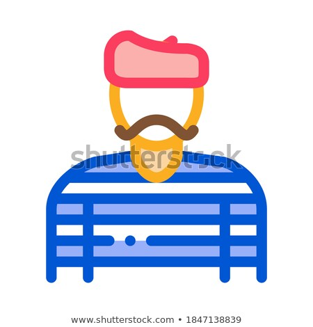 baker pastry chef french icon vector outline illustration Stock photo © pikepicture