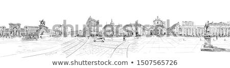 Duomo. Milan. Italy. Vector Illustration. Stock photo © ShustrikS