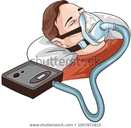Oxigênio máquina equipamento máscara médico dormir Foto stock © AndreyPopov