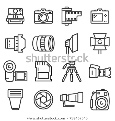 Photo Camera Icon Vector Outline Illustration Stock photo © pikepicture
