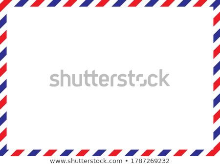 Retro cartão postal modelo correio aéreo fronteira papel velho Foto stock © evgeny89