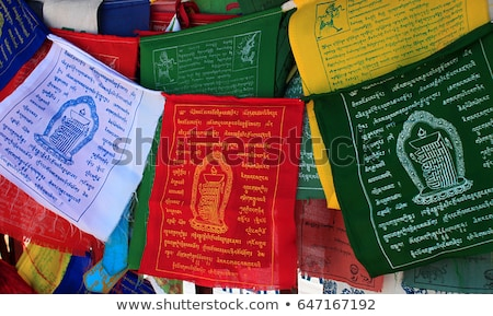 Tibetan Buddhism prayer flags lungta Stock photo © dmitry_rukhlenko