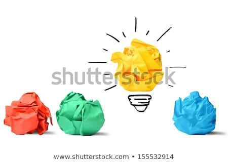Stockfoto: Nieuwe · ideeën · groene · energie · geïsoleerd