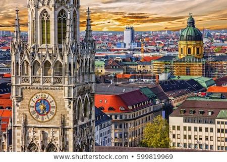 ミュンヘン ドイツ 教会 日没 家 ストックフォト © dmitry_rukhlenko