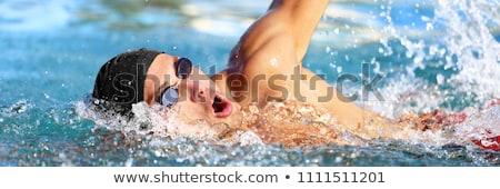 Nadar triathlon competição treinamento homem atleta Foto stock © Maridav