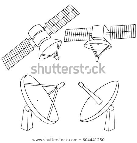 Satellite Dish Line Drawing Stock photo © cteconsulting