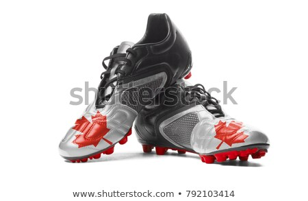 ストックフォト: サッカー · 草 · フラグ · 空 · サッカー