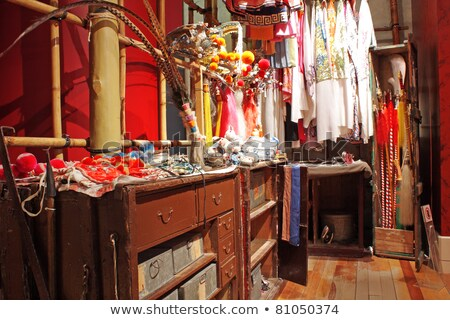 китайский опера гардеробная моде искусства комнату Сток-фото © cozyta