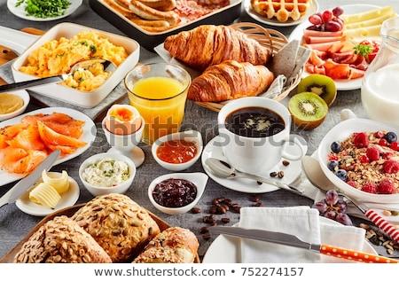 Reggeli fotó finom házi készítésű étel gyümölcs Stock fotó © Francesco83