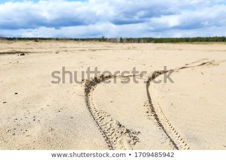 Stockfoto: Fiets · track · teken · weg · retro · foto