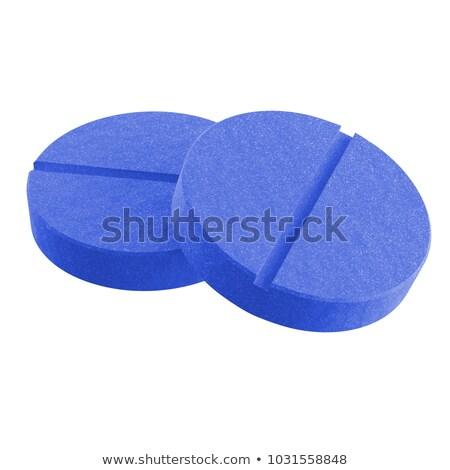 Kettő aszpirin út tabletta izolált fehér Stock fotó © Givaga