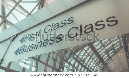 Első osztály felirat tábla repülőtér piros prioritás Stock fotó © sasilsolutions
