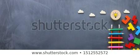 Chalkboard - Success Puzzle Stock photo © kbuntu