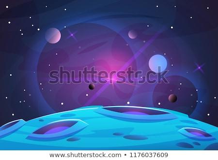 Spazio scena due pianeti esplosione luce Foto d'archivio © simo988