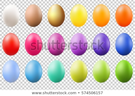 Yalıtılmış renkli yumurta altı dekore edilmiş beyaz Stok fotoğraf © borna_mir