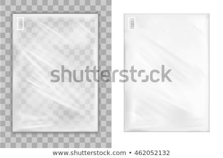 şeffaf zarf paketleme pvc beyaz plastik Stok fotoğraf © deyangeorgiev