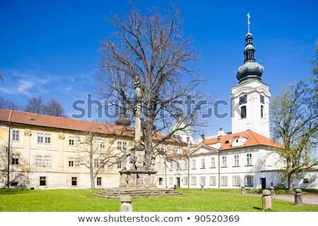 manastır · Çek · Cumhuriyeti · mimari · Avrupa · kapı · açık · havada - stok fotoğraf © phbcz