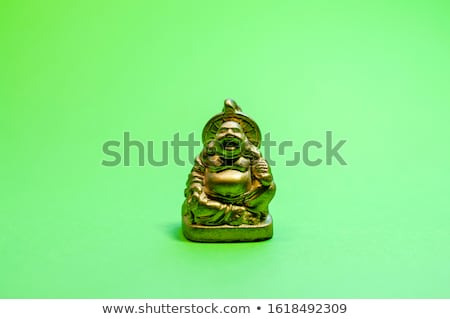 Golden statuette of laughing man Stock photo © mammothis