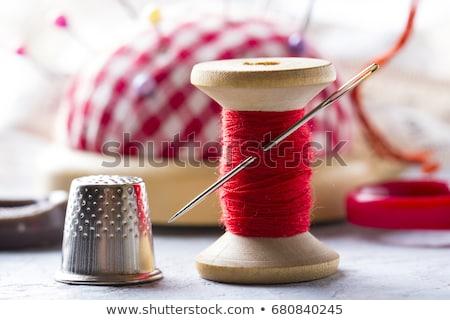 Stock fotó: Fonál · varr · színek · izolált · fehér · divat