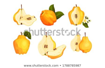 желтый фрукты груши изолированный белый продовольствие Сток-фото © adamr