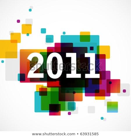 Abstract 2011 cuore sfondo wallpaper celebrazione Foto d'archivio © pathakdesigner