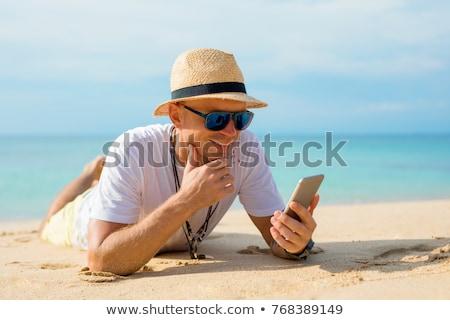 Uśmiechnięty człowiek ocean uśmiech krajobraz Zdjęcia stock © photography33