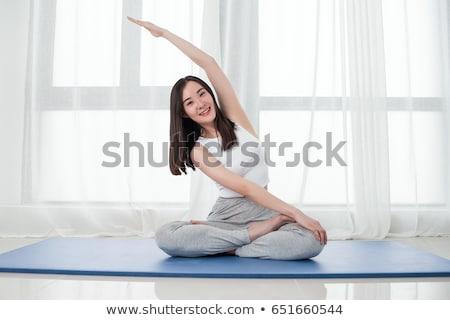 asian woman yoga stock photo © aremafoto