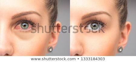 Piros szemek makró színes légy levél Stock fotó © stevemc