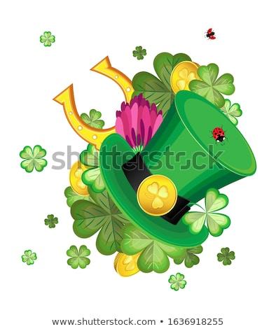 trevo · folhas · escuro · feliz · projeto · verde - foto stock © hermione