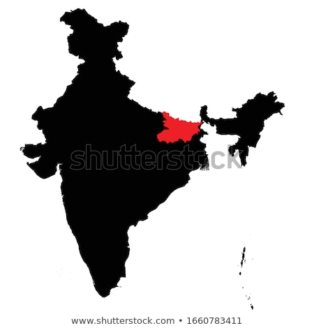 Map of India Bihar highlighted vector illustration  Steffen