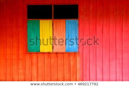 Colorfull wooden frame Stock photo © Taigi