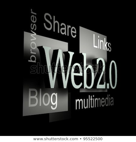 Web 20 hand woord bol Stockfoto © kbuntu