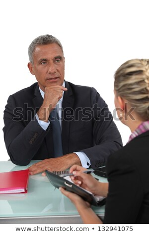 Businessman sitting with his PA Stock photo © photography33