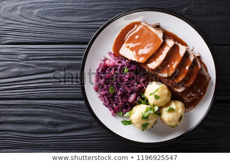 German food sauerbraten with knodel Stock photo © hideomi