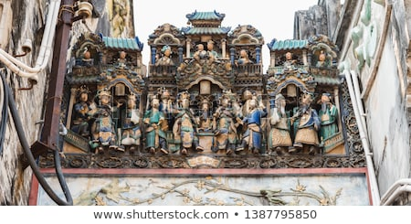 sculpture in chinese temple ho chi minh saigon vietnam Stock photo © travelphotography