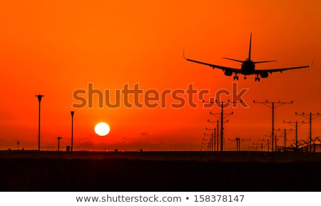plane is landing in airport l Stock photo © ssuaphoto