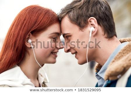 amour · musique · garçon · fille · autre - photo stock © stockyimages