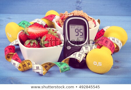 Glucose insuline seringue bleu Photo stock © Givaga