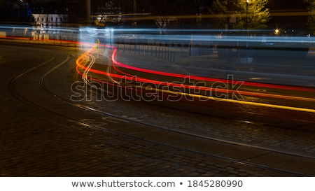 prague - cars and tramway Stock photo © courtyardpix